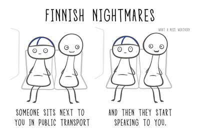 Finnish Nightmares Postcard - Someone sits next...