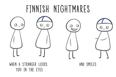 Finnish Nightmares Postcard - When a stranger...