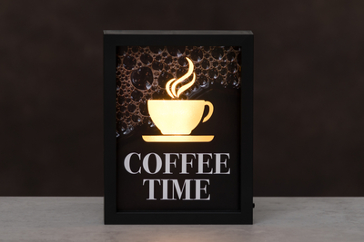 Finnlumor Coffee Time board with LED-light