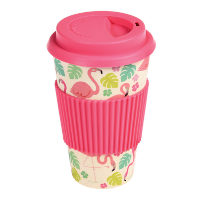 Flamingo Bay bamboo takeaway mug
