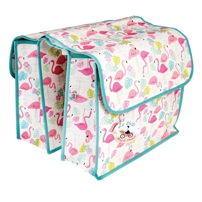 Flamingo Bay bike pannier, bicycle rack bag