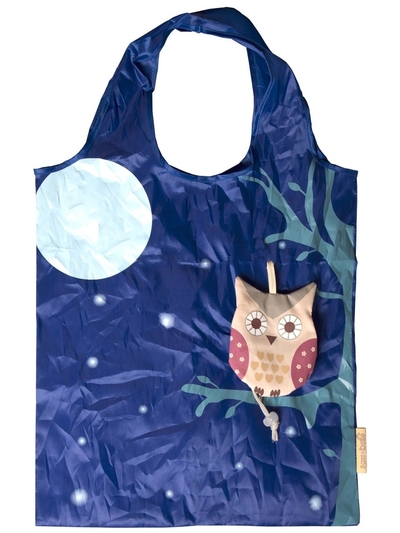 Fold up shopper bag, Owl