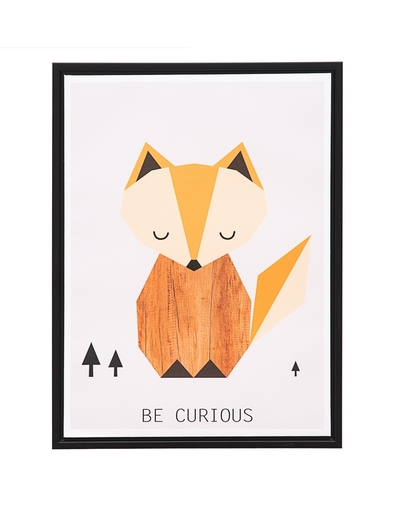 Fox wall poster with text, Be curious