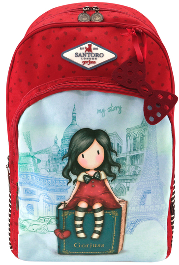 Gorjuss™ Cityscape 3-slot backpack, My Story/Paris