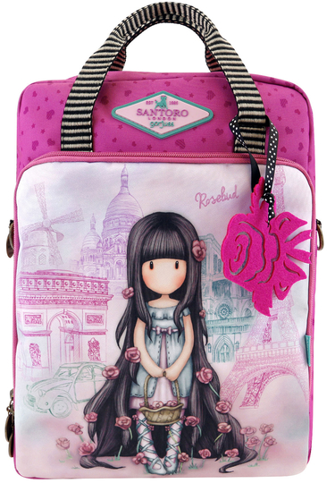 Gorjuss™ Cityscape modifiable shoulder bag/ backpack, Rosebud/Paris