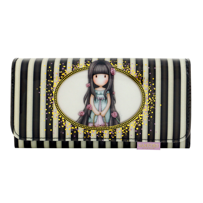 Gorjuss™ Stripe long wallet, Rosebud