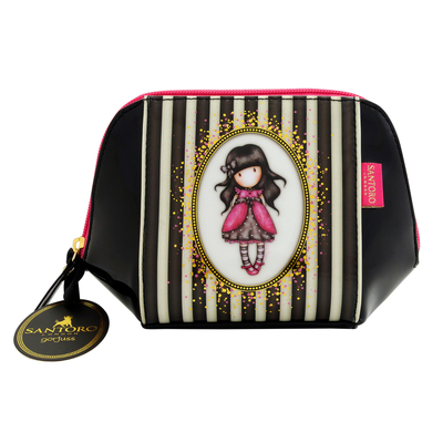 Gorjuss™ Stripe makeup bag, Ladybird
