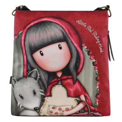 Gorjuss™ big shoulder bag, Little Red Riding Hood