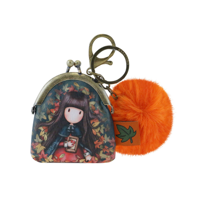 Gorjuss™ keychain/purse, Autumn Leaves