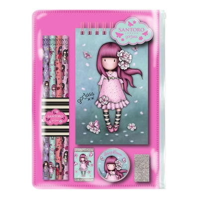 Gorjuss™ school stationery set Cherry Blossom