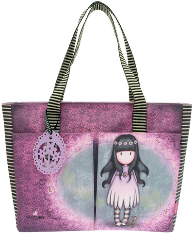 Gorjuss™ shopping bag with pockets, Oops a Daisy