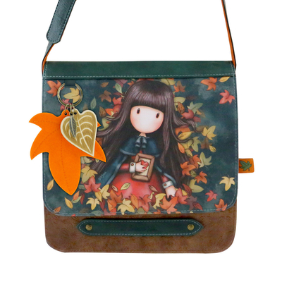 Gorjuss™ shoulder bag with a flap, Autumn Leaves