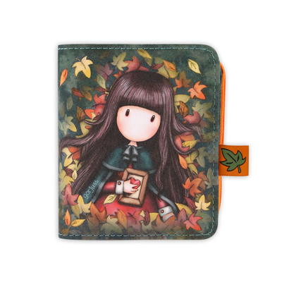 Gorjuss™ wallet with a detachable purse Autumn Leaves
