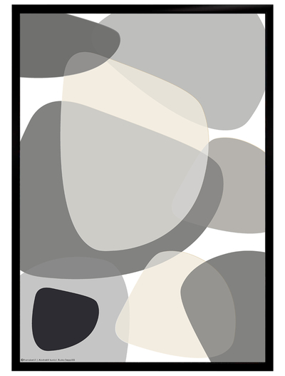 Graphical art poster, black-and-white/white, starting from 9.90€