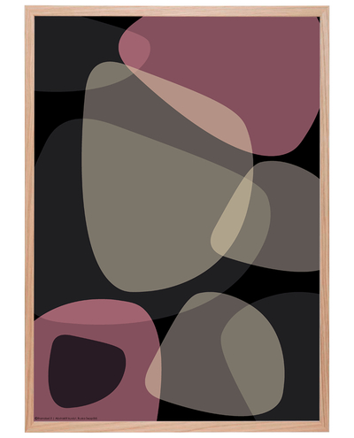 Graphical art poster, light pink/black, starting from 9.90€