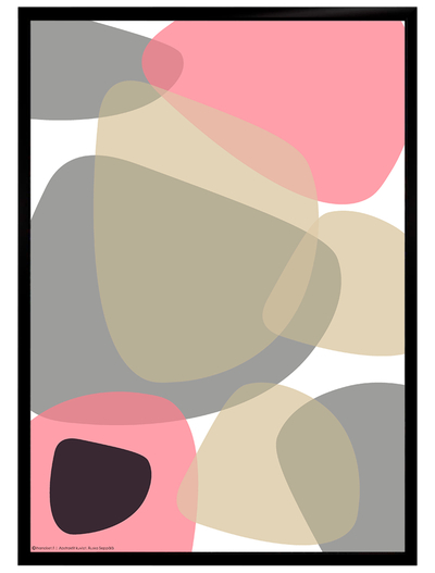 Graphical art poster, light pink/white, starting from 9.90€