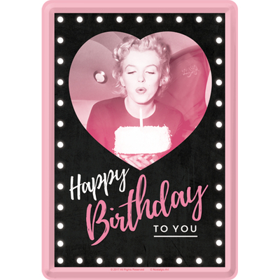 Greeting card Marilyn Happy Birthday, Metal