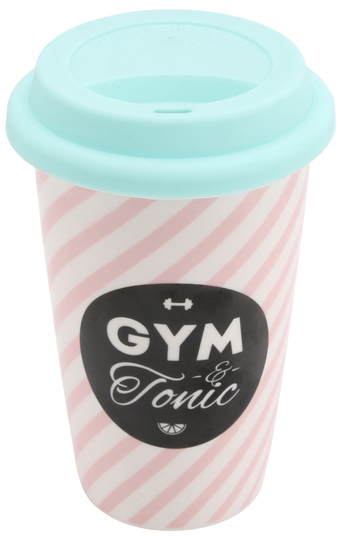 Gym & Tonic keraaminen take away muki