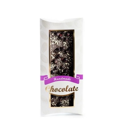 Handmade chocolate, blackcurrant- apple, 110g