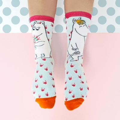 House Of Disaster Moomin socks, Bouquet