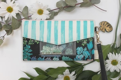 House of Disaster Boulevard Florist wallet with a wrist strap