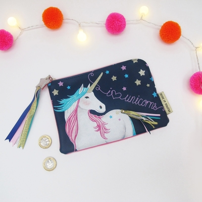 House of Disaster Candy Pop Unicorn make up bag