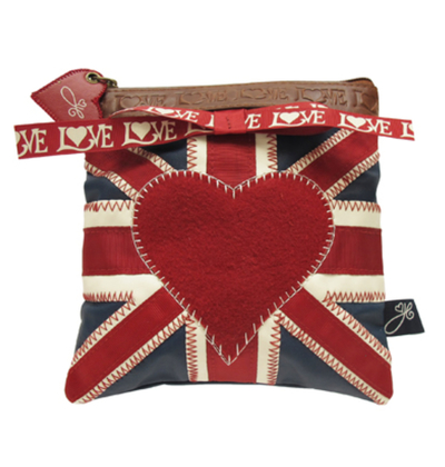 House of Disaster Jan Constantine heart makeup bag