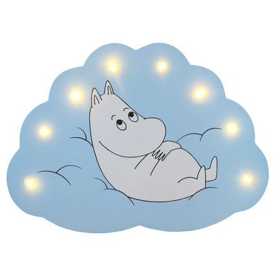 House of Disaster Moomin LED cloud lamp, light blue, Moomintroll