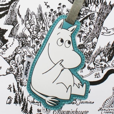 House of Disaster Moomin luggage name tag, Moomintroll