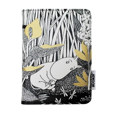 House of Disaster Moomintroll Daydreaming passport cover, black/white