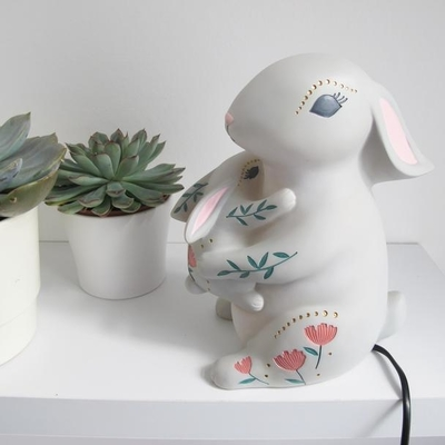 House of Disaster Mother&baby rabbit -lamp