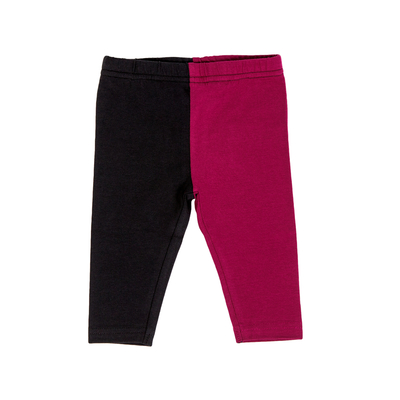 HuiGee Basic baby's leggings Jazz, fuchsia/black