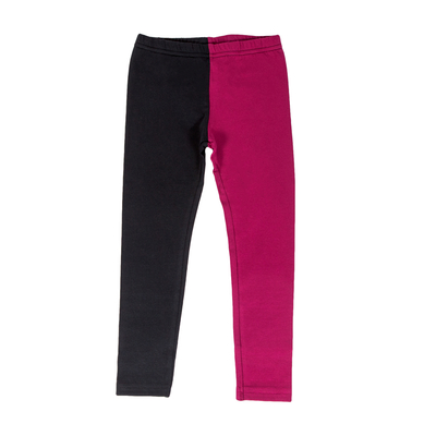 HuiGee Basic children's leggings Jazz, fuchsia/black
