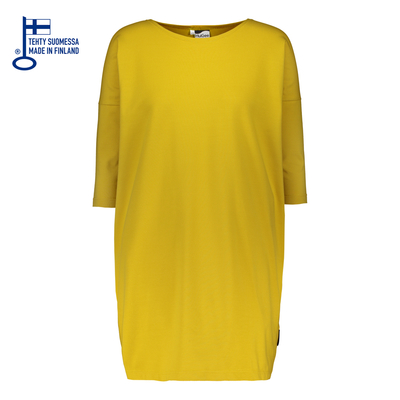 HuiGee Basic dress Pihlava, yellow, comes in big sizes too!