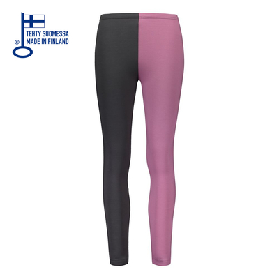 HuiGee Basic naisten leggings Jazz, roosa/harmaa