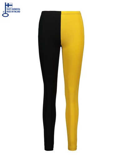 HuiGee Basic women's leggings Jazz, yellow/black