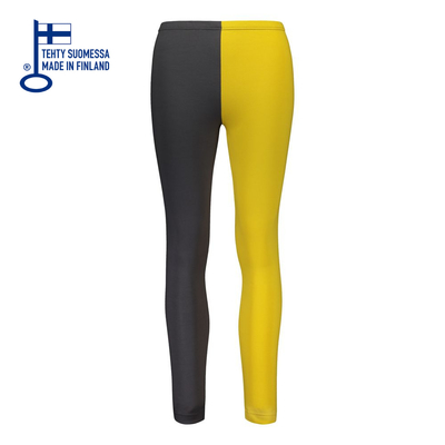 HuiGee Basic women's leggings Jazz, yellow/grey