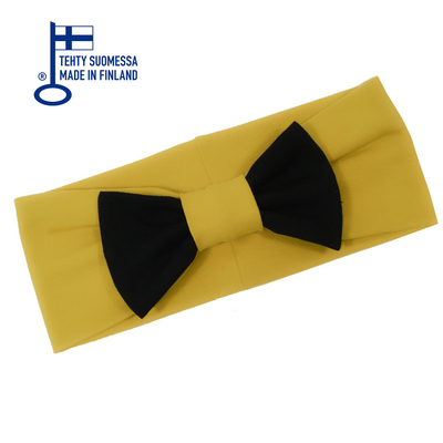 HuiGee Combo girls' ribbon scarf/headband, yellow/black