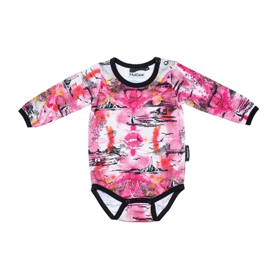 "HuiGee Moomin baby's body suit ""Sea Adventure"", pink"