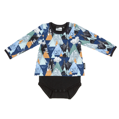 HuiGee Moomin baby's bodysuit-shirt Mountains, 56-86cm