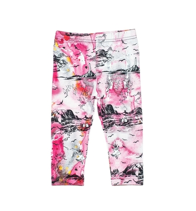 "HuiGee Moomin baby's leggings ""Sea Adventure"", pink 56-86cm"
