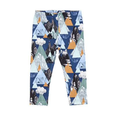 HuiGee Moomin baby's leggings Mountains, blue 56-86cm