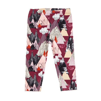 HuiGee Moomin baby's leggings Mountains, fuchsia 56-86cm