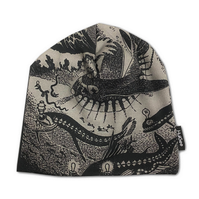 HuiGee Moomin beanie for the entire family, Moominpappa's memoirs, black/grey, 2sizes