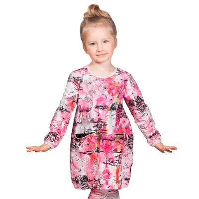 "HuiGee Moomin children's dress-tunic ""Sea Adventure"", pink 74-134cm"
