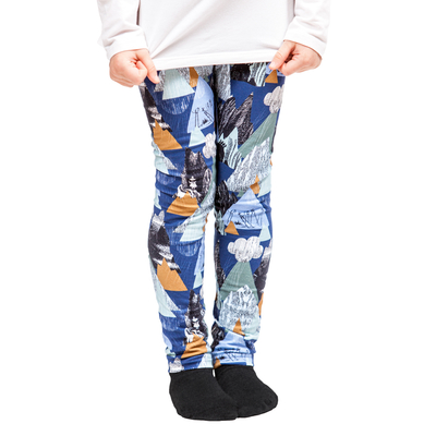 HuiGee Moomin children's leggings Mountains, blue 92-128cm