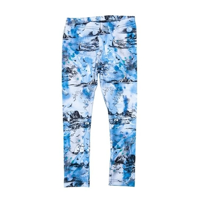 HuiGee Moomin children's leggings Sea Adventure, blue 92-134cm