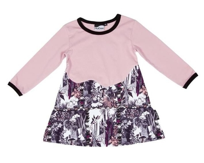 HuiGee Moomin children's tunic-dress the Hobgoblin's Hat, rose