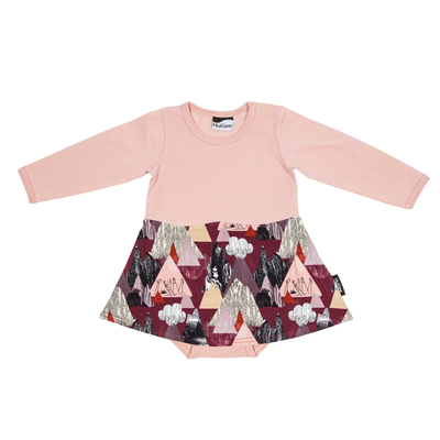 HuiGee Moomin dress-bodysuit Mountains, rose, 56-86cm