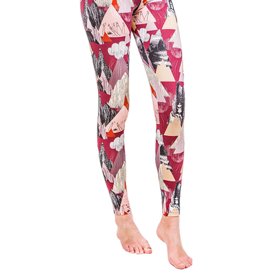 HuiGee Moomin women's leggings Mountains, fuchsia